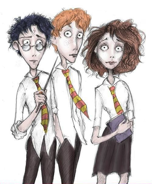 Harry Potter versao Tim Burton